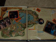 Two page park map idea