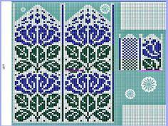 Fair Isle Knitting Patterns, Fair Isle Pattern, Knitting Charts, Cross Stitching, Mittens, Needlepoint, Stitch Patterns, Knit Crochet, Wall Photos