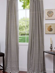 These tiny stripes look subtle and elegant from a distance and fun and playful up close.
