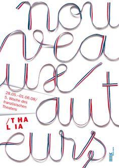 Nouveau Auteurs - Woche des französischen Theaters  Poster für das Thalia Theater Halle