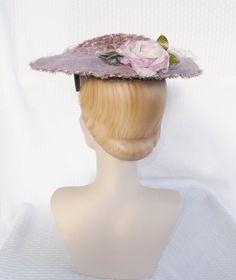 1950's Vintage Lavender Wide Brim Hat with by MyVintageHatShop, $67.00