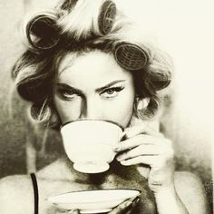 Is Madonna drinking tea or coffee? #Life and #Coffee.
