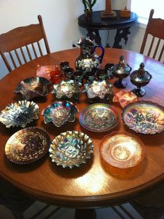 collection of supurb carnival glass