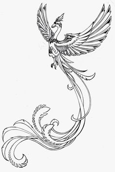 Phoenix Tattoos For Women | Phoenix Tattoo by Larutanrepus Phoenix tattoo design, art, flash ...