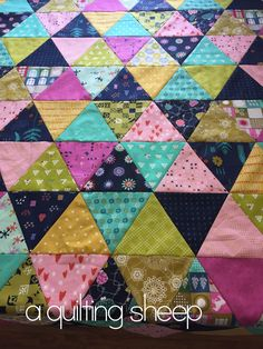 A Quilting Sheep: Cotton and Steel {Triangle Quilt}