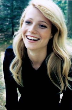 Gwenyth Paltrow, someone told me my acting reminds them of her, what a compliment!