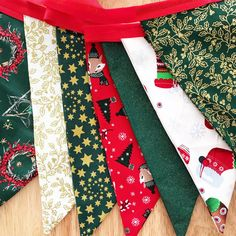 Items similar to Christmas red gold green double sided bunting on Etsy Christmas Bunting, Red Christmas, Red Gold, Floral Tie, Etsy Seller, Trending Outfits, Unique Jewelry, Handmade Gifts, Creative