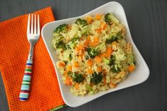 Carrot, Broccoli and Cheese Orzo on Weelicious