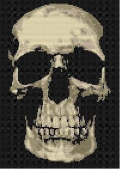 Wish I still knew how to cross stitch! Skully Counted Cross Stitch Pattern. $9.00, via Etsy.