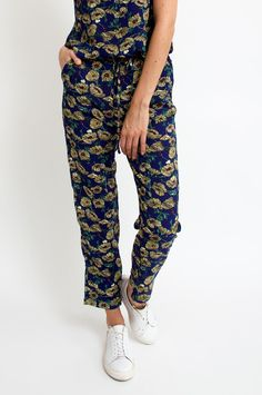 These navy trousers are the perfect new-season refresh. They've been printed with pretty florals and come in a casual-cool wide fit. Pair yours with the label's matching top or opt for a simple blouse. From Sienna With Love. Available at Sienna Boutique.