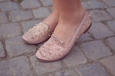 "Sam Edelman ""Adena"" loafers - in any and every color, but especially rose gold!"