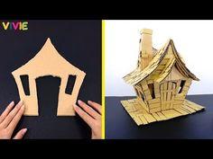 Fairy House Crafts, Fairy Tree Houses, Clay Fairy House, Doll House Crafts, Cardboard Box Crafts, Cardboard Houses, Clay Houses, Miniature Houses, Miniature Dolls