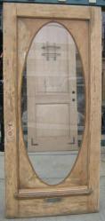 Antique Door 0186 Oval glass pine