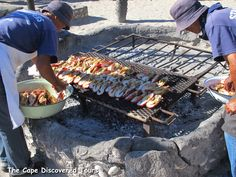 West Coast rock lobster prepared on coals at an all day seafood lunch or dinner
