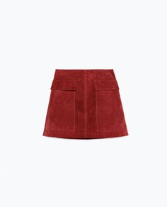 Image 8 of SUEDE SKIRT from Zara