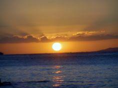 Sunset in Waikiki Oahu, Hawaii
