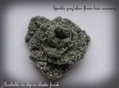 Crochet freeform flower hair accessory. Many colour options. Clip or elastic band finish option. on Etsy, £5.00