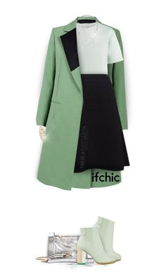 """""""Green Fall Attire   Ifchic"""" by luckied99 ❤ liked on Polyvore featuring Être Cécile, Mohzy, Miista, Pink Tartan, Monday Edition and CC SKYE"""