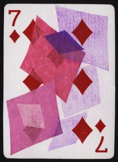 Day 17/30 Playing Card Art, mixed media, altered playing cards