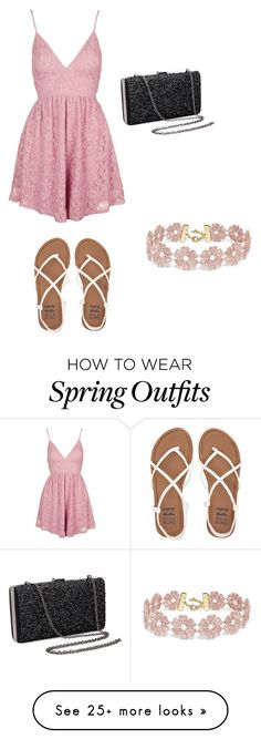 """Spring party outfit"" by jmh312 on Polyvore featuring Topshop, Billabong and BaubleBar"