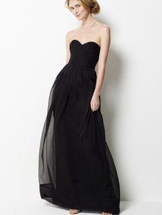 Strapless long black dresses