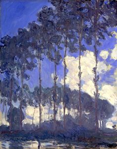 """Poplars On The Epte"" • Claude Monet, 1891 - #art"
