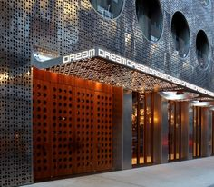cool perforated hotel facade