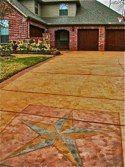 Resurfaced concrete driveway gets decorative finish. Concrete Resurfacing, Concrete Driveways, Home Repairs, Forex Trading, Decks, Photo Galleries, New Homes, Yard, Flooring