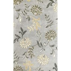 Buy the KAS Rugs 8 x 10 Direct. Shop for the KAS Rugs 8 x 10 Silver Floral Hand-Tufted Wool and Viscose Area Rug with Cotton Backing and save. Floral Area Rugs, Floral Rug, Large Area Rugs, Wool Area Rugs, Room Rugs, Rugs In Living Room, Living Area, Discount Area Rugs, Rugs Usa