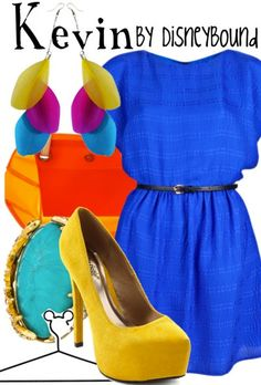 Kevin by Disney Bound!! LOVE this one so much! All the bright colors and the rich blue