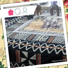 Lizzie Riley, inspired by Africa and elephants, she's created this gorgeous quilt.