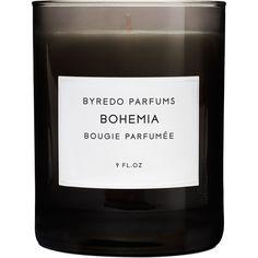 byredo 'bohemia' candle (sandalwood, rosemary, geranium, rum, opapanax, labdanum, vanilla & moss)