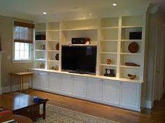 shelves around tv on pinterest tvs floating shelves and tv walls. Black Bedroom Furniture Sets. Home Design Ideas