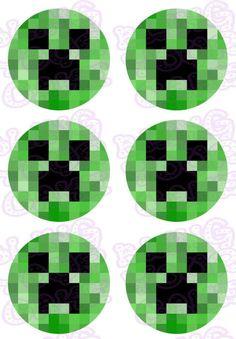 Minecraft Creeper Face Edible Icing Sheet Cake Decor Topper
