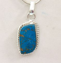 AWESOME COOL NATURAL COPPER TURQUOISE FASHION JEWELRY 925 SILVER OVERLAY PENDANT #925silvercastle #Pendant