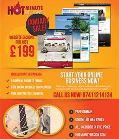 Hot minute designs promo flyer