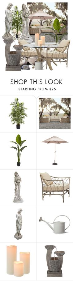 """Make it Warm Outside!"" by ann-kelley14 on Polyvore featuring interior, interiors, interior design, home, home decor, interior decorating, Nearly Natural, Quarry, Restoration Hardware and Zuo"