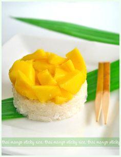 thai mango sticky rice. now I just have to wait for mango season.