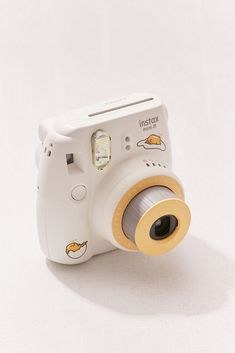 Fujifilm Instax Mini 8 Gudetama Instant Camera, Acn egg-inspired contrast color shell and Gudetama graphics Polaroid Instax, Instax Mini Camera, Fujifilm Instax Mini 8, Polaroid Camera, Camera Case, Fuji Instax, Camcorder, Camera Aesthetic, Dslr Photography Tips
