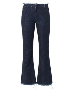 Cropped high-rise flared-leg jeans | Marques Almeida | MATCHES...