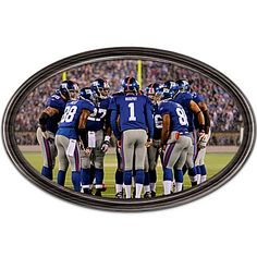 Wall Decor: Going The Distance New York Giants Personalized Wall Decor Plate Wall Decor, Plates On Wall, Watch Football, Nfl Football, Personalized Wall Decor, Nfl New York Giants, Ny Yankees, Musicals, Distance