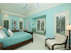 Turquoise guest bedroom
