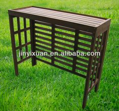 air conditioner cover wood - Google Search