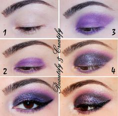 Beautify and Creatify: Plum Glitter Smokey  Eye Makeup Tutorial