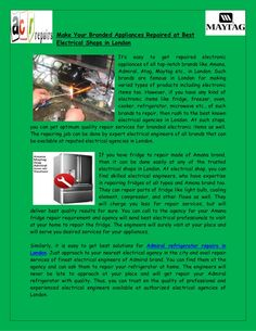 Amana Refrigerator Repair Service by Acrappliance via slideshare