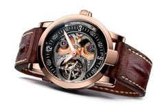 Armin Strom has just announced their first tourbillon with a micro-rotor that supplies the power. A magnificent combination! The micro-rotor is often considered the pinnacle of automatic winding and the tourbillon is the pinnacle of regulating organs. The Armin Strom Tourbillon Gravity Fire comes in an 18ct rose gold case, as limited edition of 50 pieces.