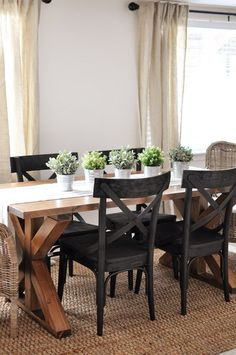 7 DIY Farmhouse Dining Room Tables. All have free downloadable plans. Build your…