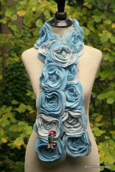 BaBY IT'S CoLD OuTSiDe... SHaDeS of BLuE by cherishedvintage, $48.00