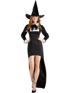 PURITAN WITCH WIZARD ADULT WOMENS FANCY DRESS HALLOWEEN COSTUME