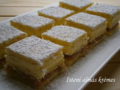 Hankka My Recipes, Cooking Recipes, Hungarian Recipes, Hungarian Food, Cornbread, Food And Drink, Sweets, Cookies, Cake